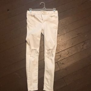 White skinny jeans freepeople